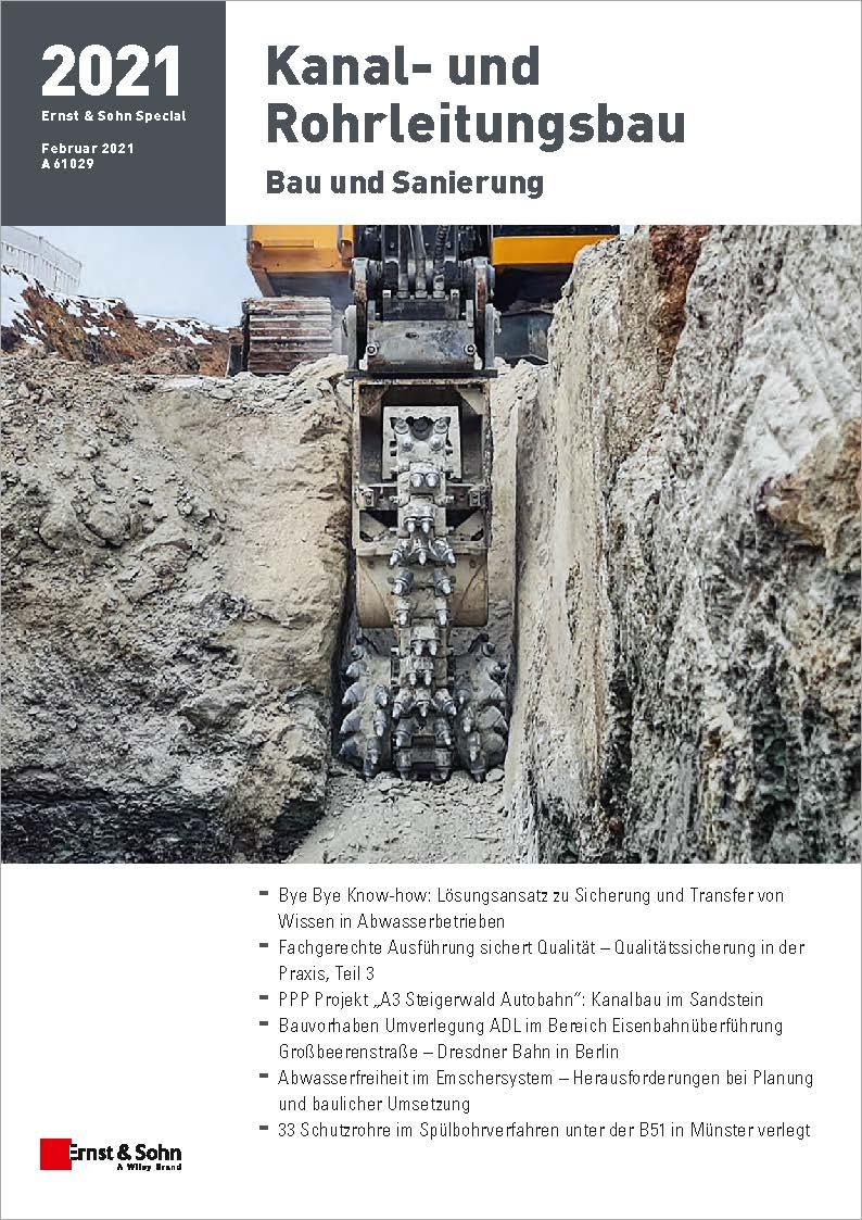 Themenheft Kanal- und Rohrleitungsbau 2021 erschienen