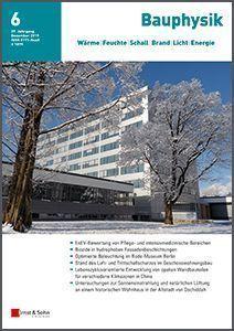 Cover_Bauphysik_2015-06_Institut Universität Innsbruck