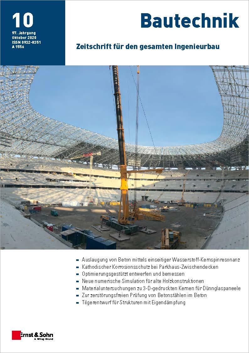 Zeitschrift Bautechnik 10/20 erschienen