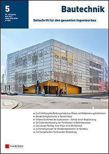Neu erschienen in Bautechnik 05/2017: Urbane Sicherheit bei Explosionen