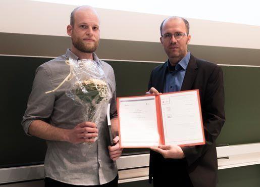 Preisübergabe Markus Kauf, M. Sc.