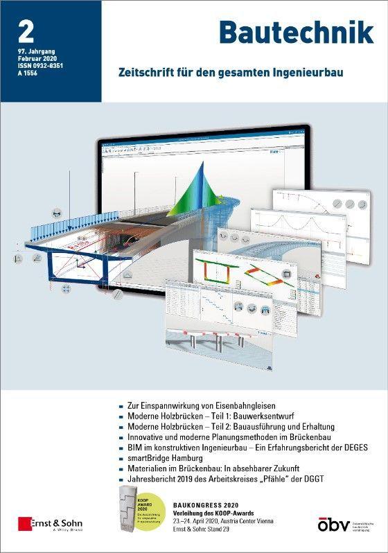 Zeitschrift Bautechnik 02/20 erschienen