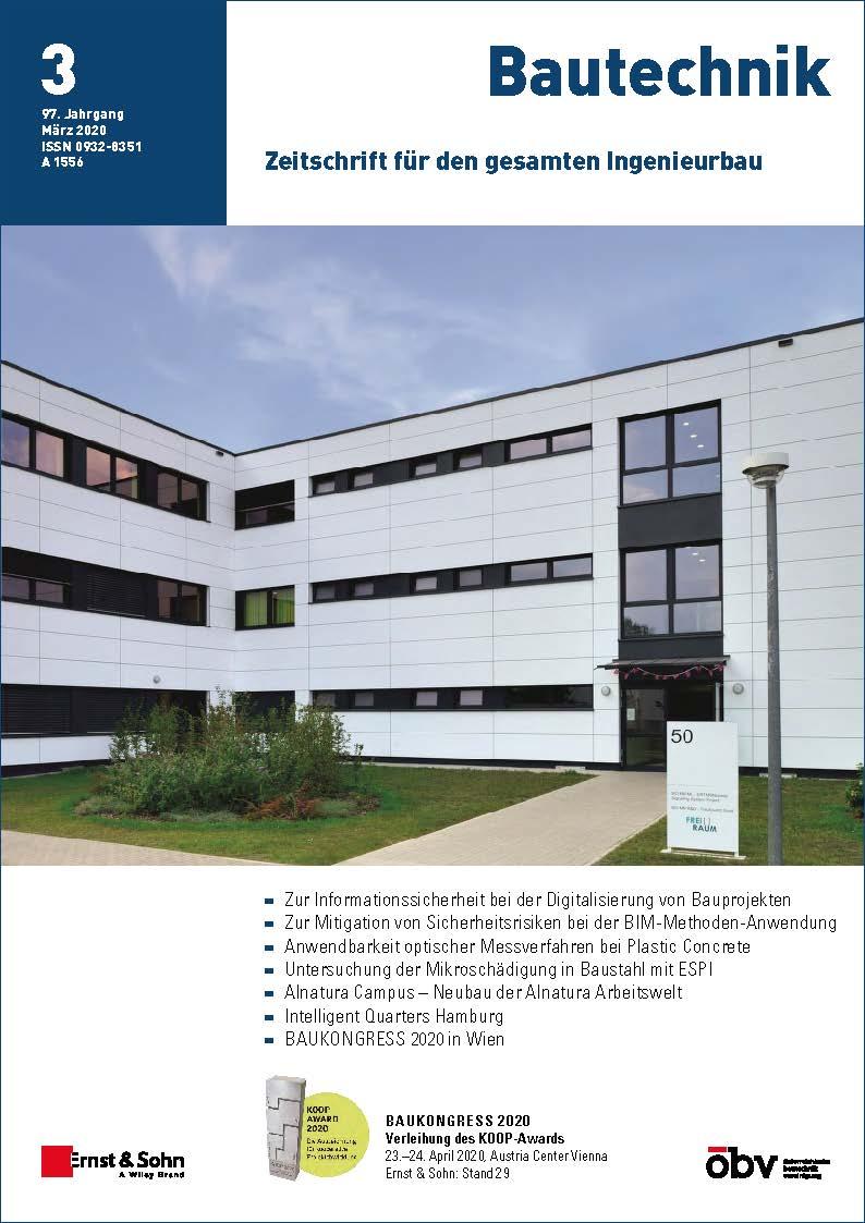 Zeitschrift Bautechnik 03/20 erschienen