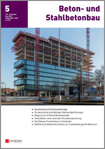 Neu erschienen in Beton-und Stahlbetonbau 05/2017: Das Nieuwe Provinciehuis in Antwerpen