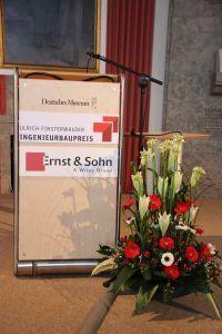 Preisverleihung Ulrich Finsterwalder INgenieurbaupreis 2015 Deutsches Museum München 2015 Redepult