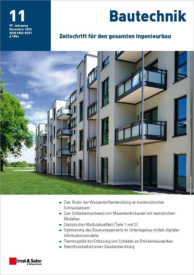 Zeitschrift Bautechnik 11/20 erschienen