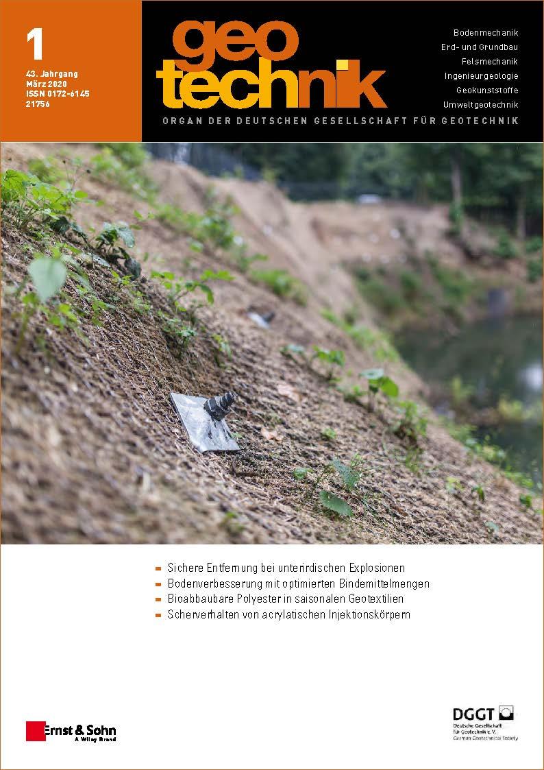 Zeitschrift geotechnik 01/20 erschienen