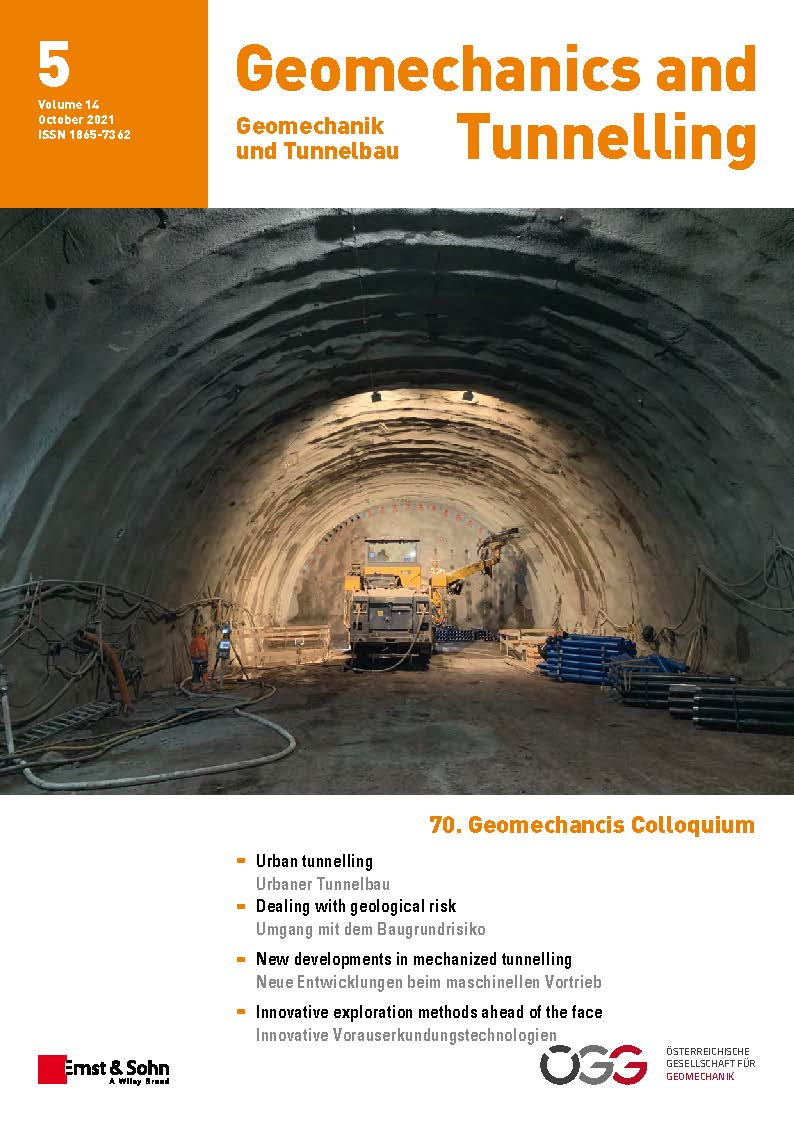 Journal Geomechanics and Tunnelling 5/21 published
