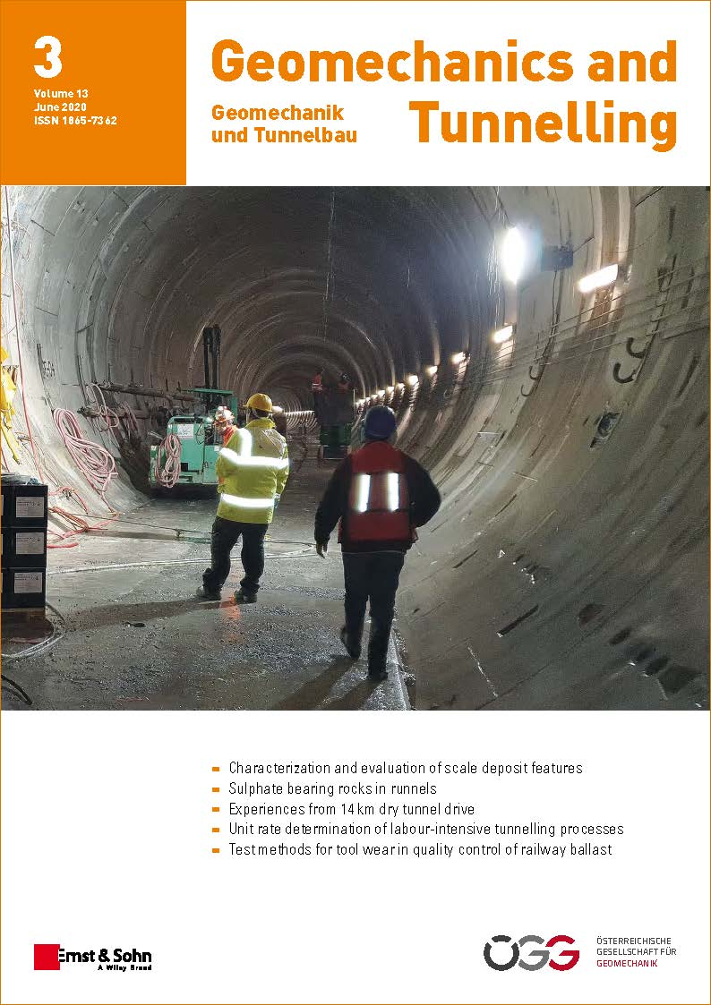 Journal Geomechanics and Tunnelling 3/2020 published