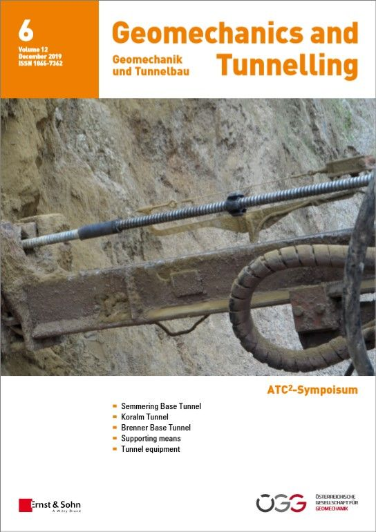 Geomechanics and Tunnelling 6/19 published