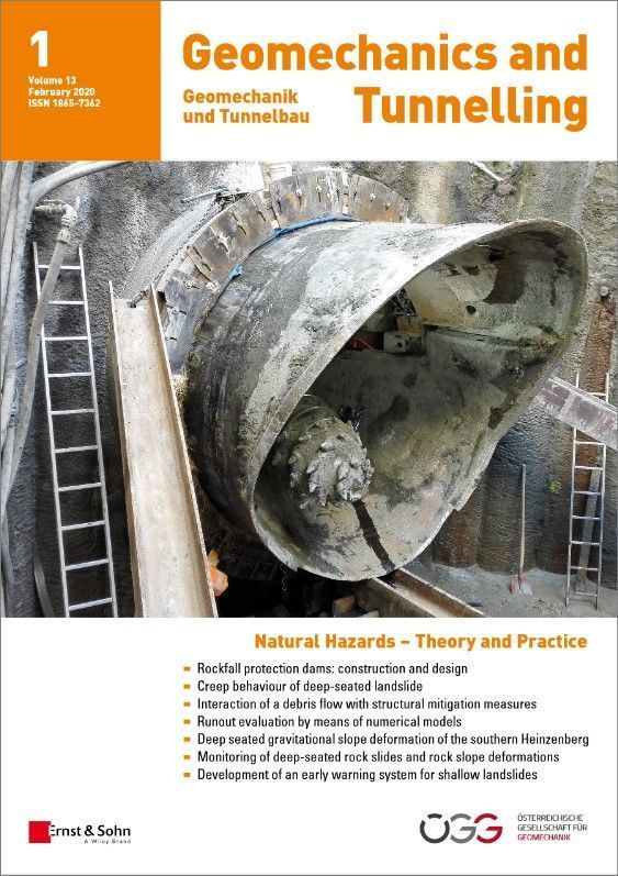 Journal Geomechanics and Tunnelling 01/20 published
