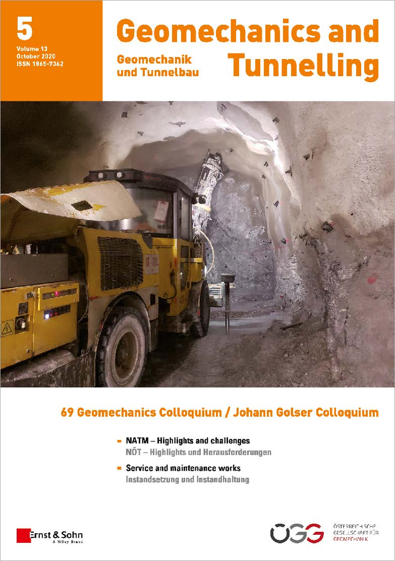 Journal Geomechanics and Tunnelling 5/2020 published