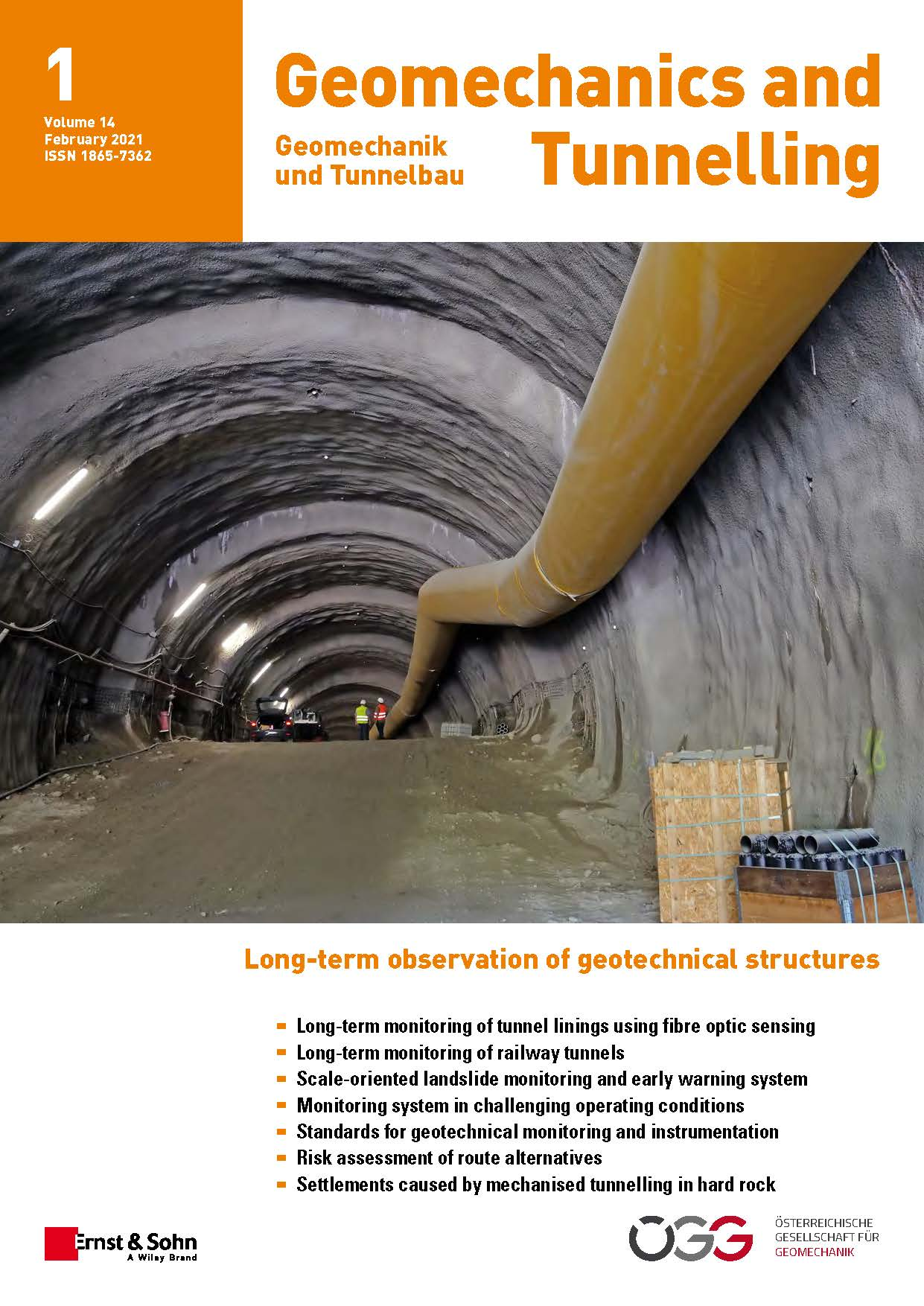 Journal Geomechanics and Tunnelling 1/21 published