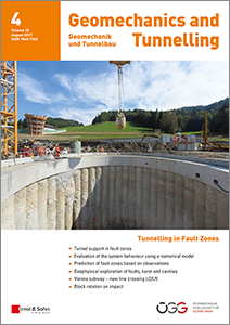 Neu erschienen in Geomachanics and Tunnelling 04/2017: Innovative Geophysik-Technologien im Tunnelbau