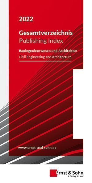 Gesamtverzeichnis Ernst & Sohn 2022 Cover