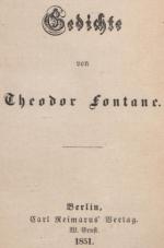 Zum Fontanejahr: Aus der Verlagsgeschichte