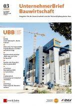 UnternehemerBrief Bauwirtschaft Cover 3/2020