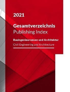The Ernst & Sohn Publishing Index 2021