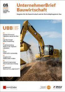 UnternehmerBrief Bauwirtschaft