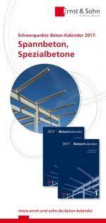 Beton-Kalender 2017 und ausgewählte Neuerscheinungen