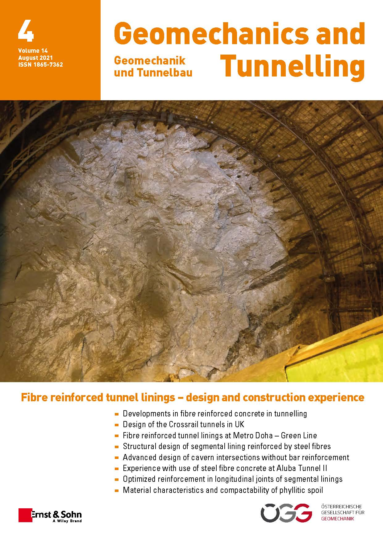 Journal Geomechanics and Tunnelling 4/21 published