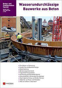 Cover Sonderheft Wasserundurchlässige Bauwerke aus Beton 2014