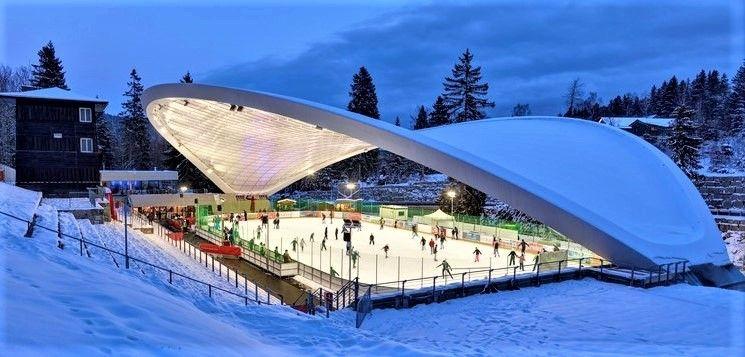 Preisträger des Sonderpreises für Ingenieurskunst: Schierker Feuerstein Arena Wernigerode (Foto: GRAFT Architekten)