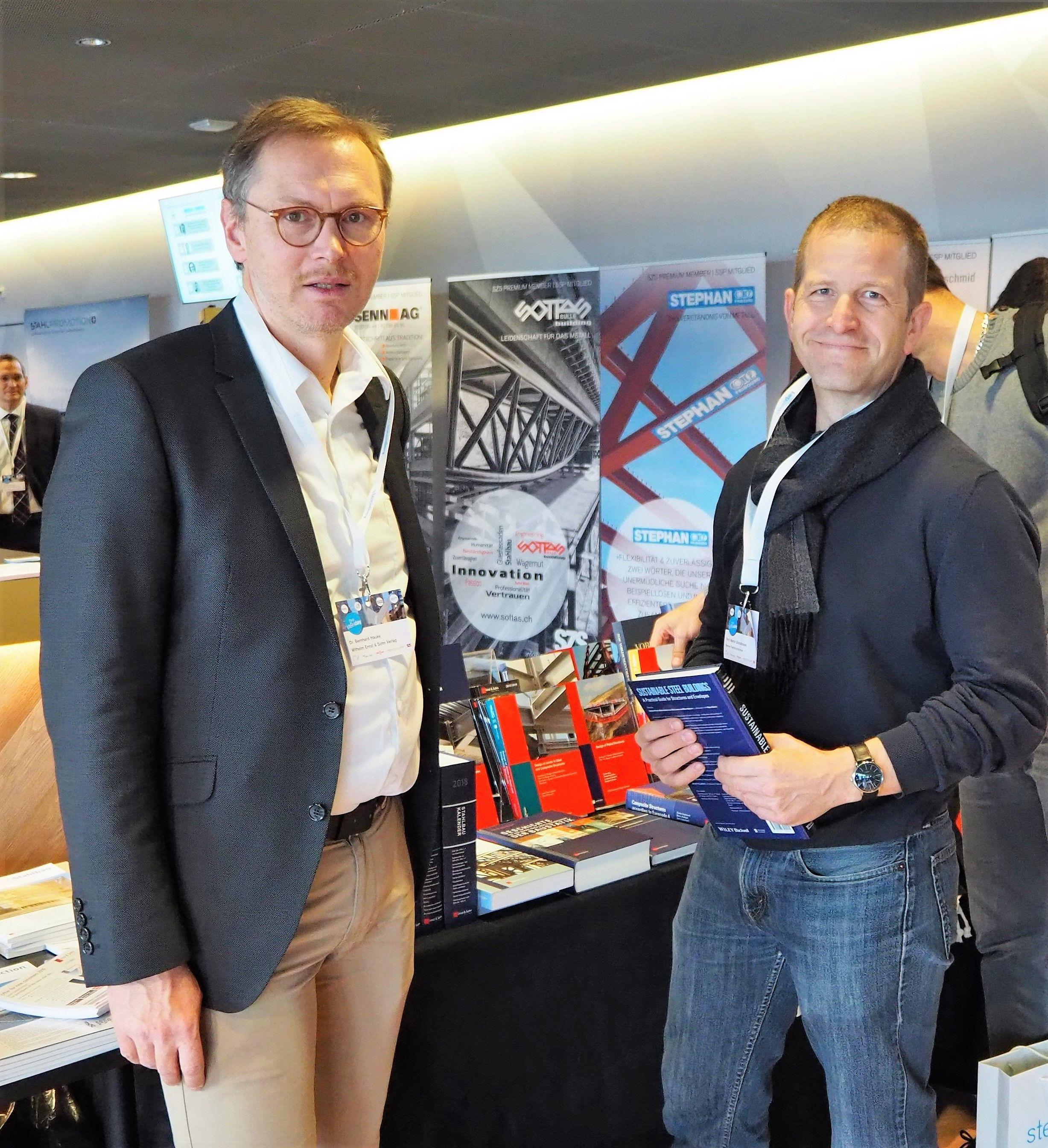 Bernhard Hauke (Ernst & Sohn) und Martin Schollmayer von der Berner FH