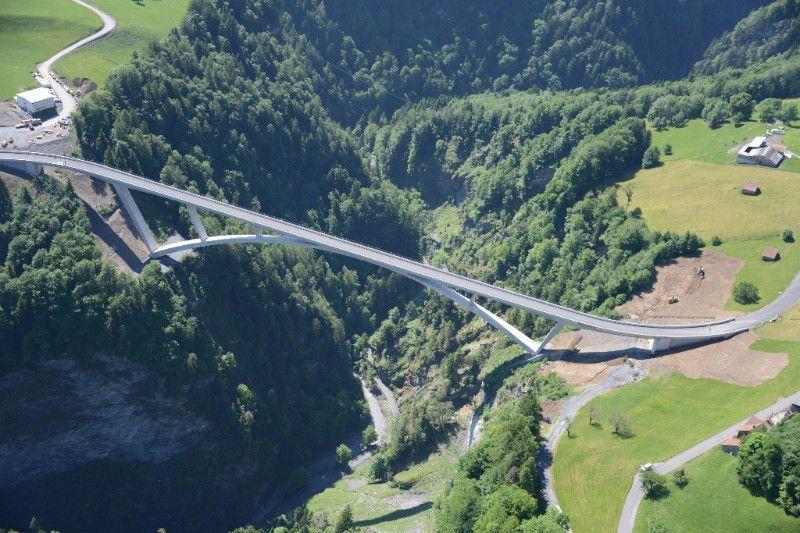 Taminabrücke (Kanton St. Gallen, Schweiz) © Tiefbauamt Kanton St. Gallen