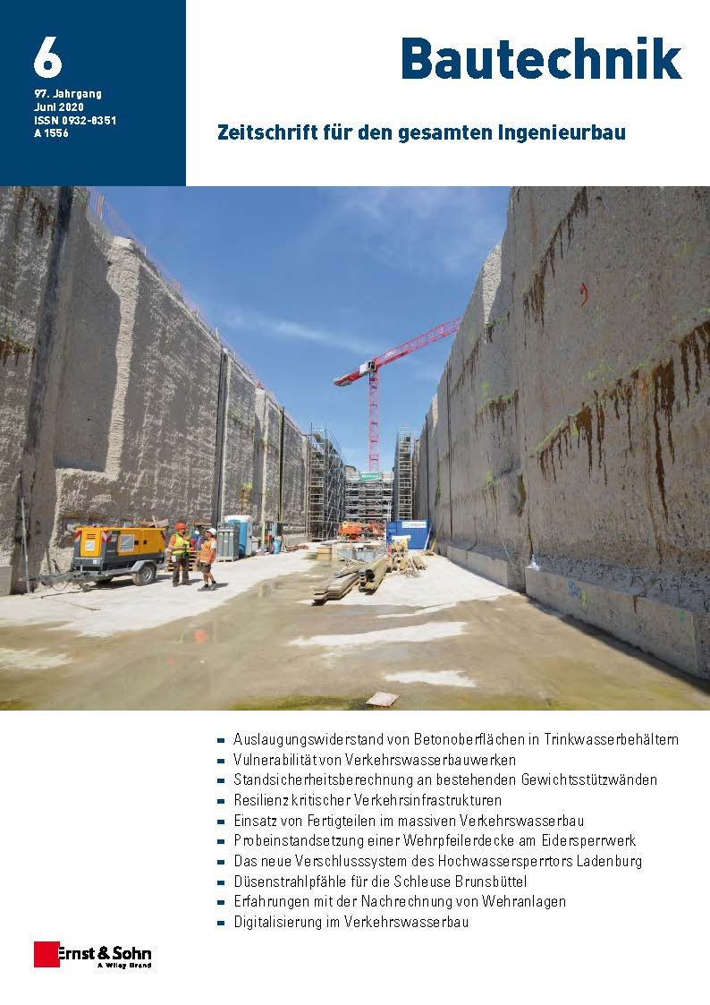Zeitschrift Bautechnik 6/20 erschienen