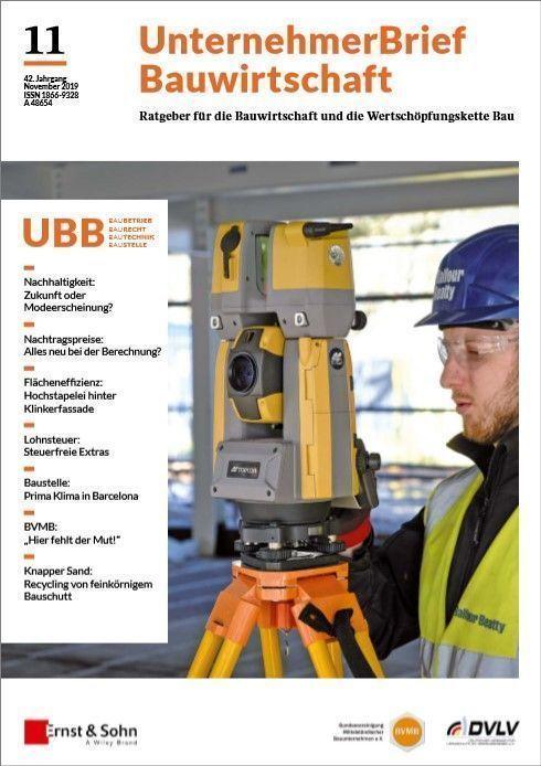 Zeitschrift UnternehmerBrief Bauwirtschaft 11/19 erschienen