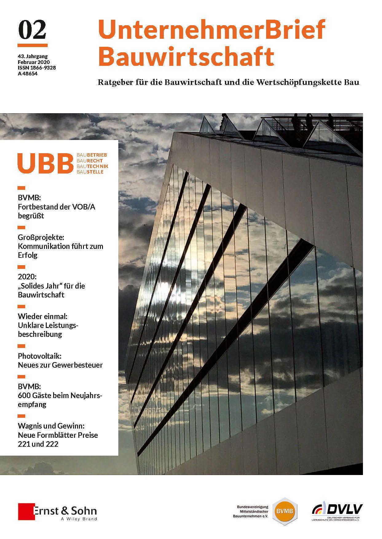 Der UBB 2/20 ist da!