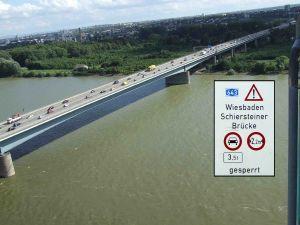 Schiersteiner Brücke zwischen Mainz und Wiesbaden
