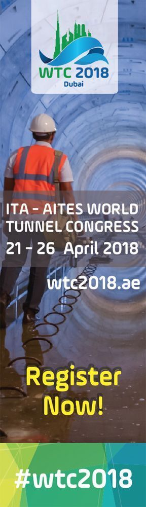 World Tunnel Congress 2018, Dubai